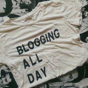 Blogging All Day Tshirt